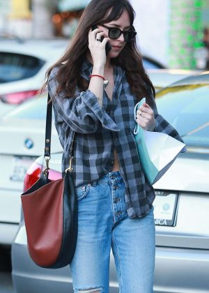 Dakota Johnson - Christmas Shopping in Beverly Hills
