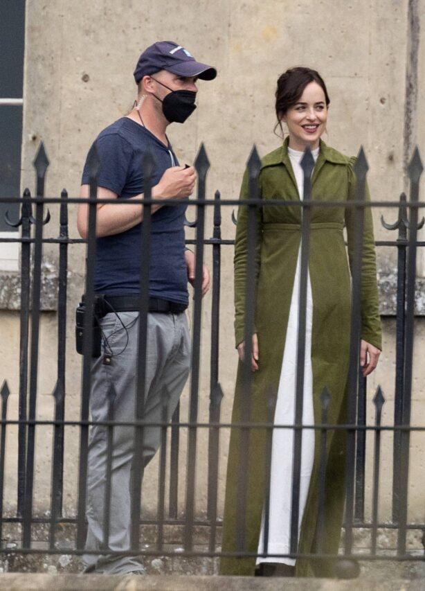 Dakota Johnson - filming for Netflix production of Jane Austen's Persuasion
