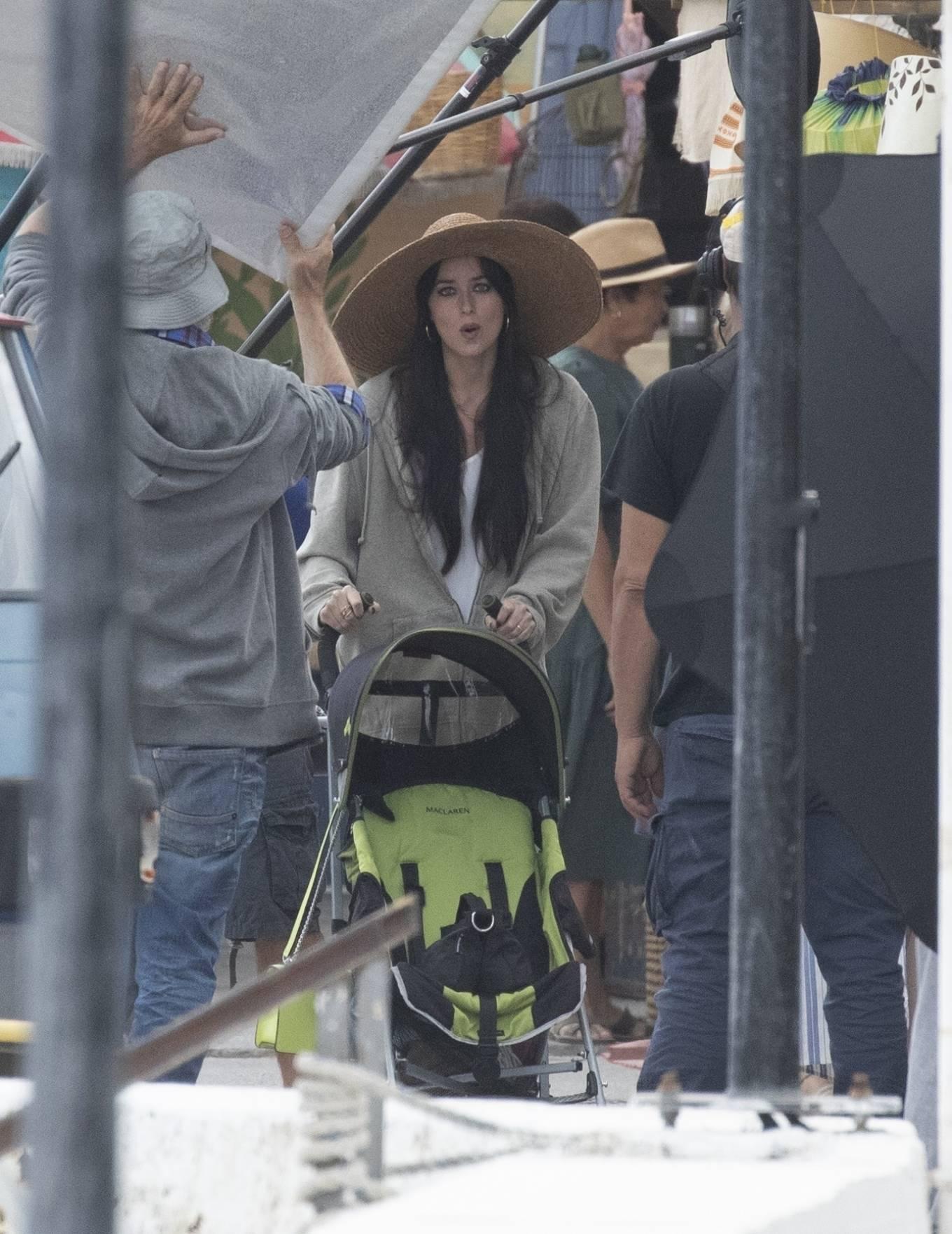 Dakota Johnson 2020 : Dakota Johnson – Filming The Lost Daughter in Speteses Island-03