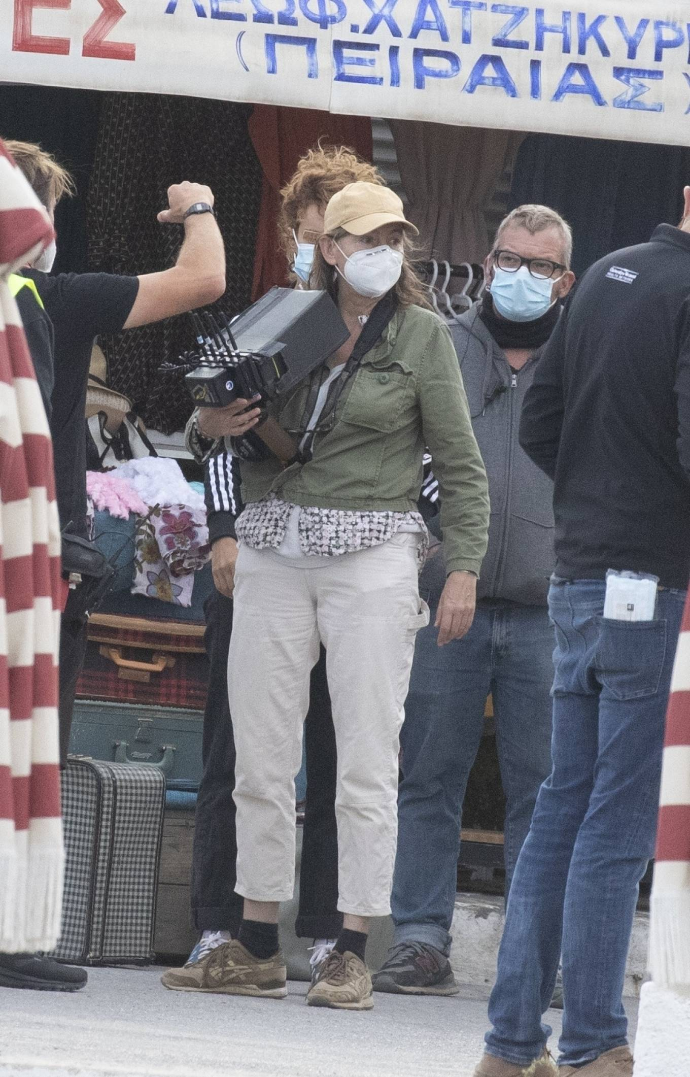 Dakota Johnson 2020 : Dakota Johnson – Filming The Lost Daughter in Speteses Island-07
