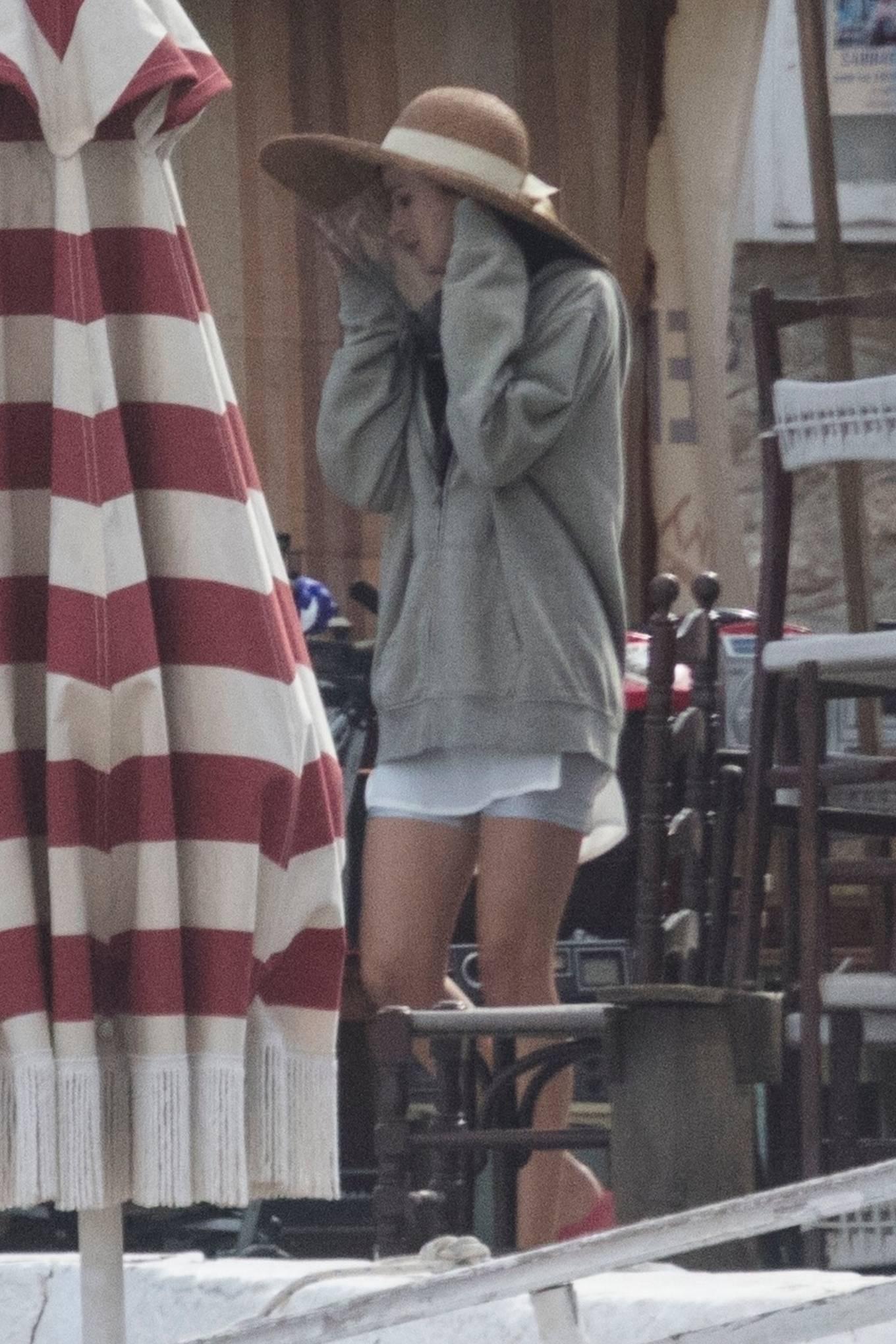 Dakota Johnson 2020 : Dakota Johnson – Filming The Lost Daughter in Speteses Island-10