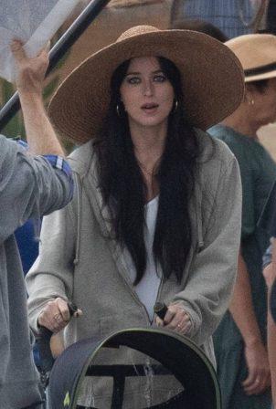 Dakota Johnson - Filming 'The Lost Daughter' in Speteses Island