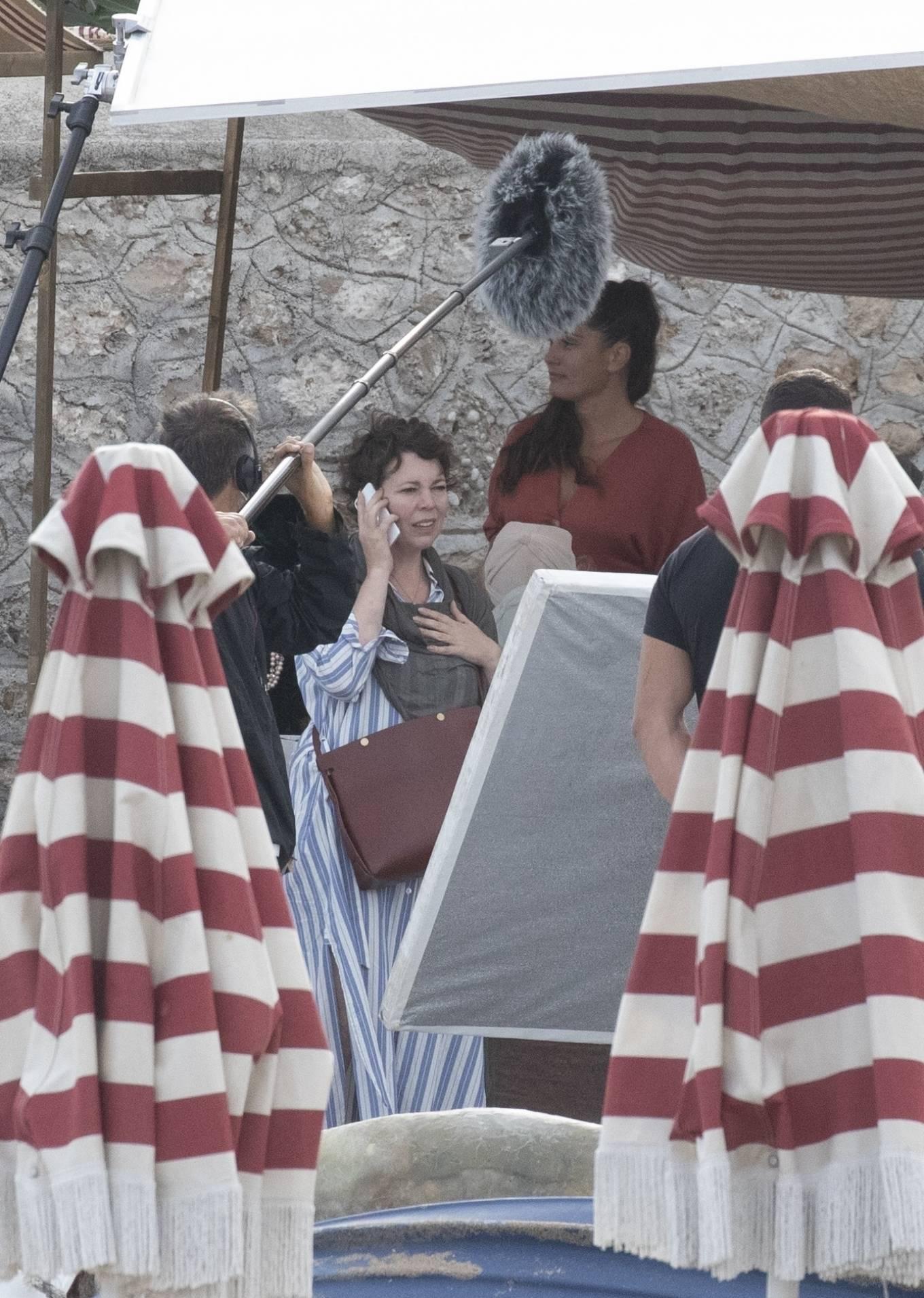 Dakota Johnson 2020 : Dakota Johnson – Filming The Lost Daughter in Speteses Island-17