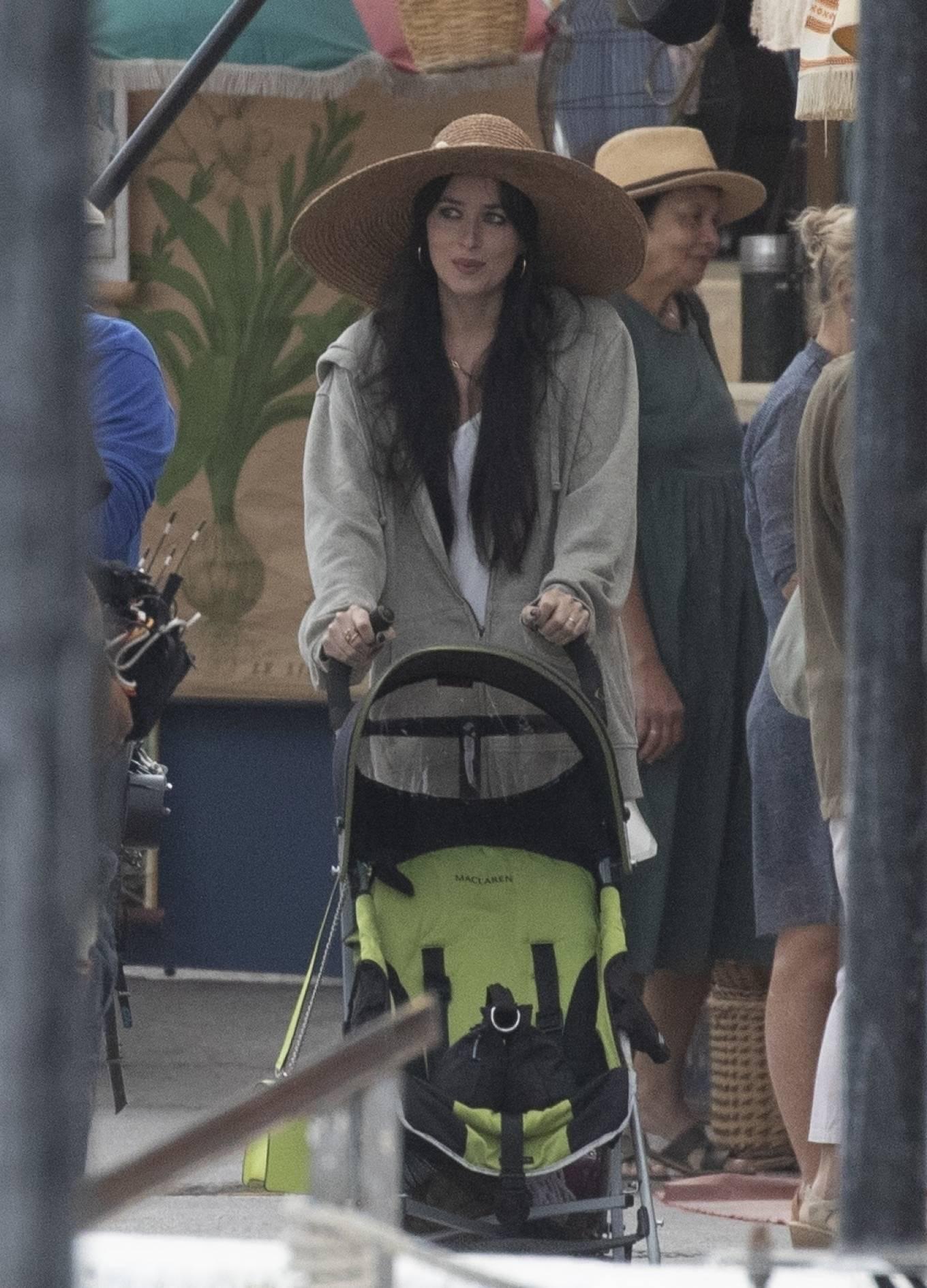 Dakota Johnson 2020 : Dakota Johnson – Filming The Lost Daughter in Speteses Island-18