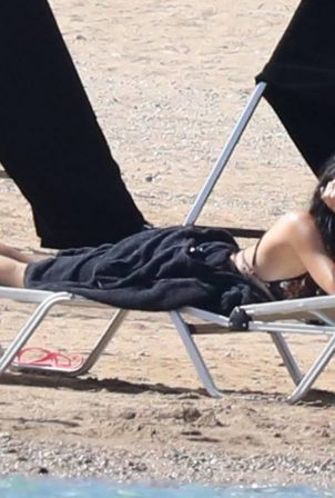 Dakota Johnson - Filming 'The Lost Daughter' in Spetses - Greece