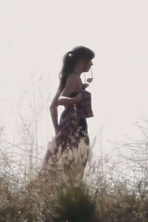 Dakota Johnson - Films Scenes at Griffith Park for 'Covers' in LA