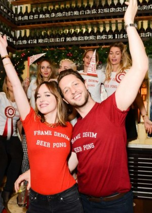 Dakota Johnson - FRAME Denim's 1st Annual Beer Pong Championship in NYC