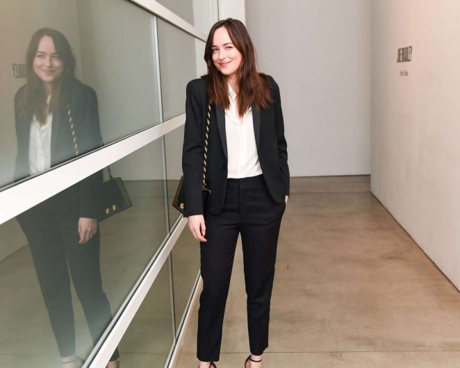Dakota Johnson - Gagosian Gallery Opening in Los Angeles