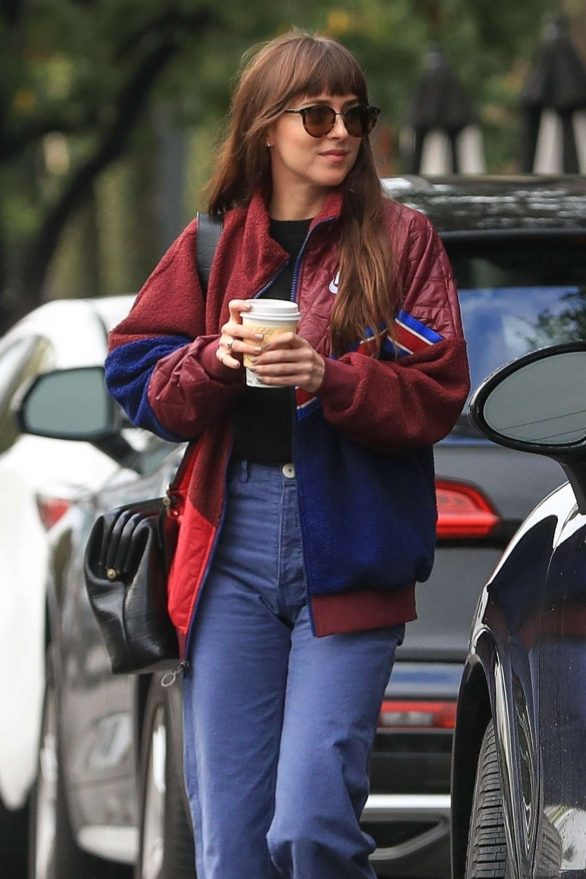 Dakota Johnson - Goes on a coffee at Alfred Coffee in West Hollywood