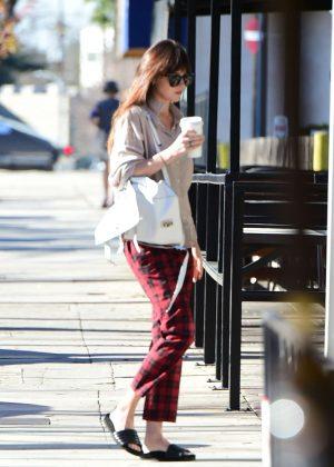 Dakota Johnson - Goes to the nail salon in Los Angeles