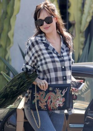Dakota Johnson grabs coffee in West Hollywood