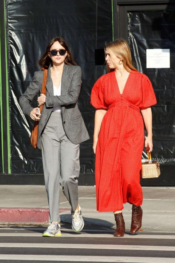 Dakota Johnson - Heads to lunch with a friend in Los Angeles