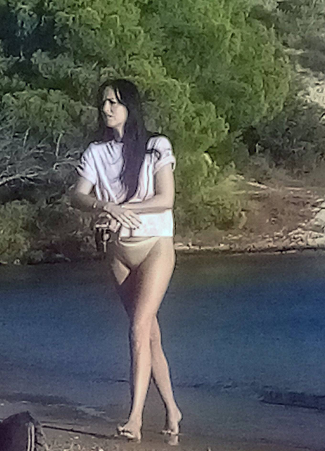 Dakota Johnson - In a bikini spotted on the beach in Spetses Island - Greece