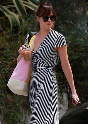 Dakota Johnson - In a summer dress out in Los Angeles