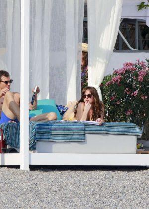 Dakota Johnson in Bikini on Fifty Shades Darker set -13