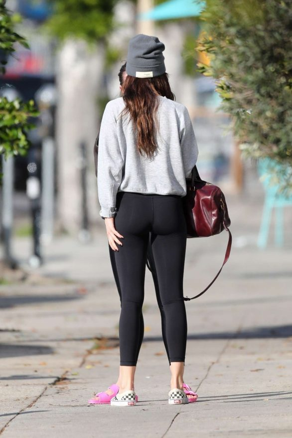 Dakota Johnson in Black Leggings - Leaves a yoga class in Los Angeles