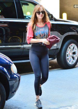Dakota Johnson in Black Tights - Out in New York City
