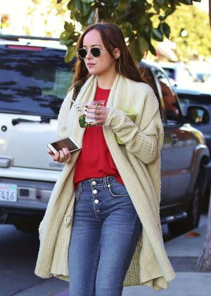 Dakota Johnson in Jeans Out in Los Angeles