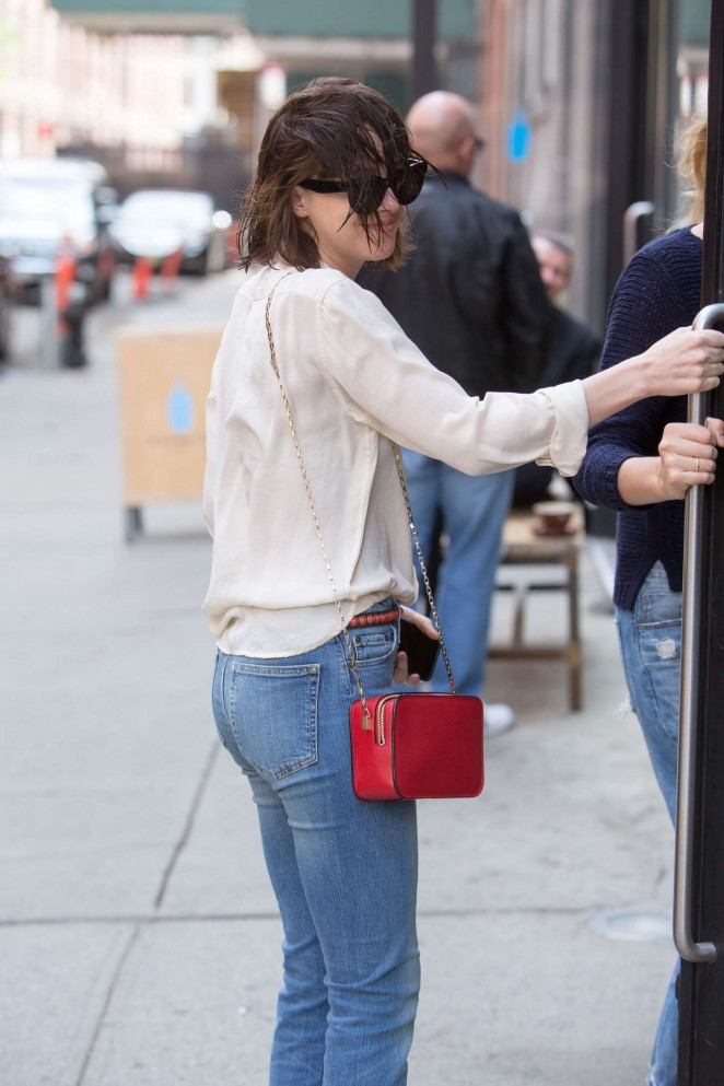 Dakota Johnson in Jeans Out in New York