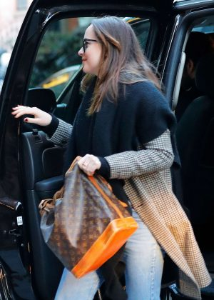 Dakota Johnson in Jeans out in New York