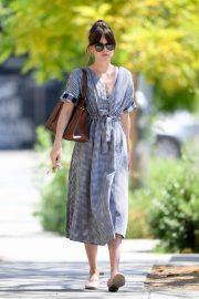 Dakota Johnson in Summer Dress - Out in Los Angeles
