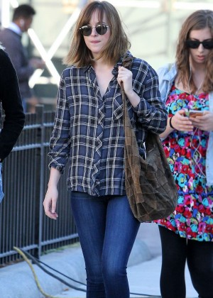 Dakota Johnson in Tight Jeans Out in New York