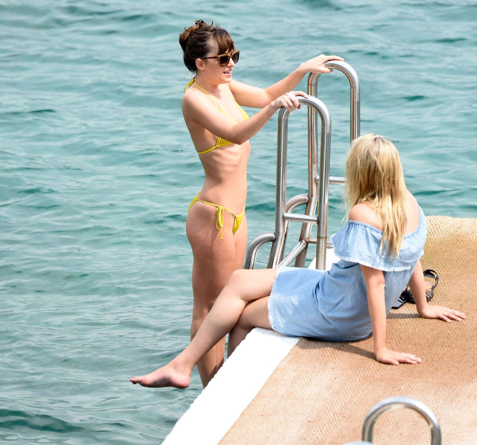 Dakota Johnson 2016 : Dakota Johnson in Yellow Bikini 2016 -09