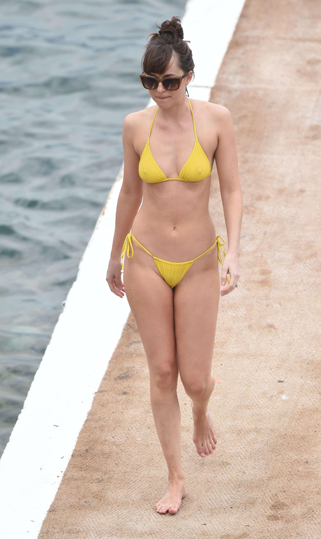 Dakota Johnson In Yellow Bikini 2016 12 Gotceleb