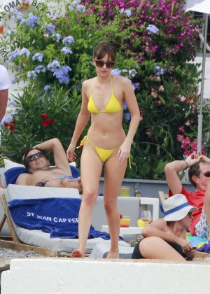 Dakota Johnson in Yellow Bikini 2016 -23