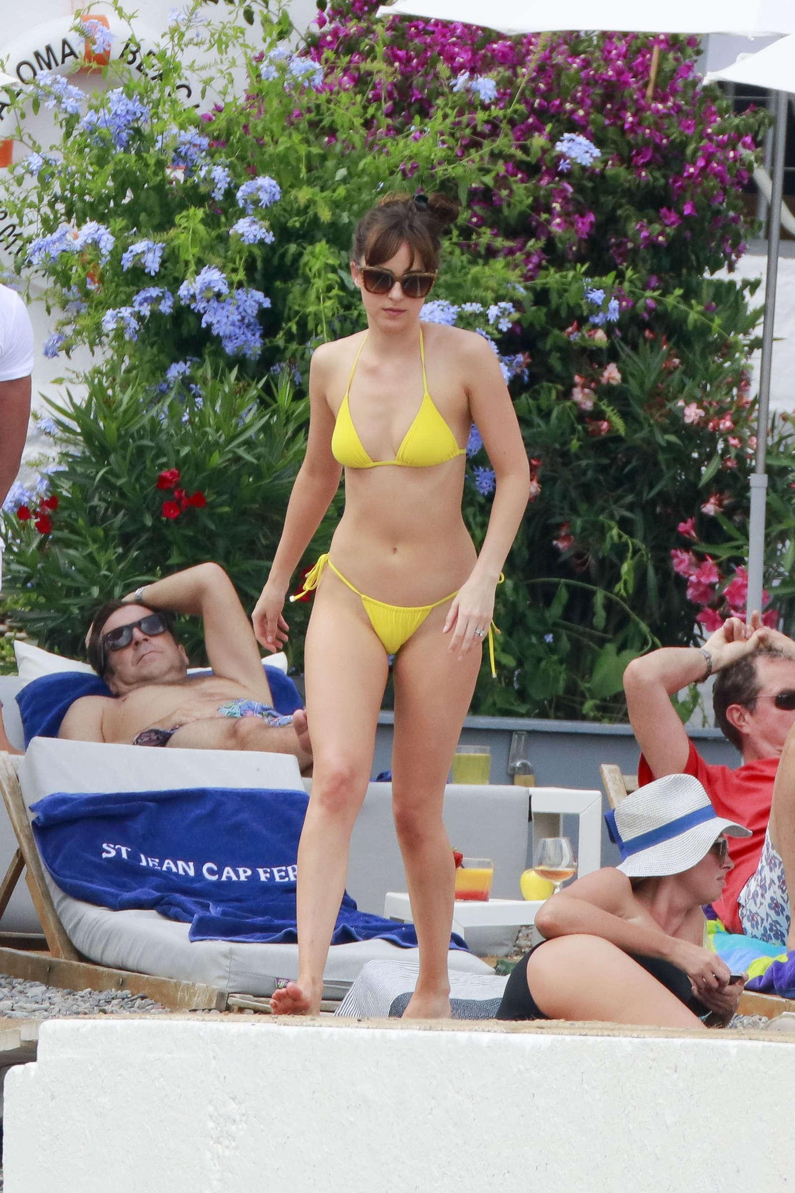 Dakota Johnson 2016 : Dakota Johnson in Yellow Bikini 2016 -23