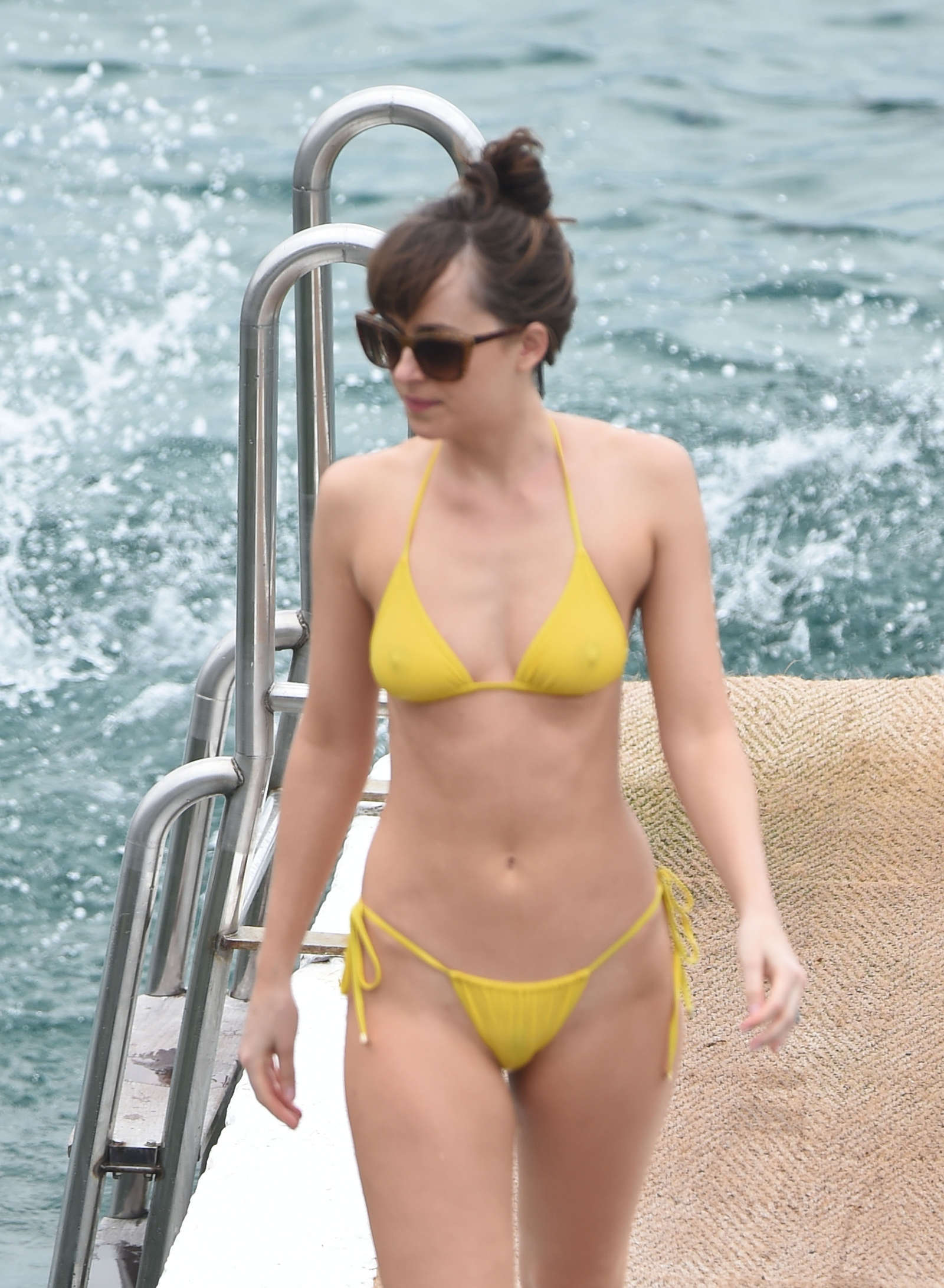 Dakota Johnson 2016 : Dakota Johnson in Yellow Bikini 2016 -25