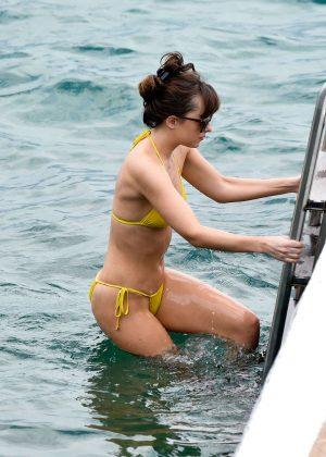 Dakota Johnson in Yellow Bikini 2016 -27