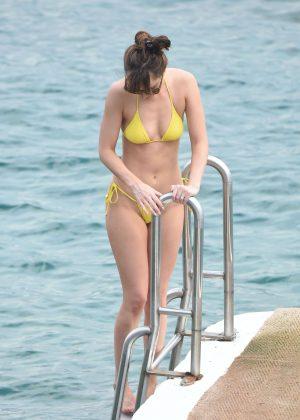 Dakota Johnson in Yellow Bikini 2016 -31