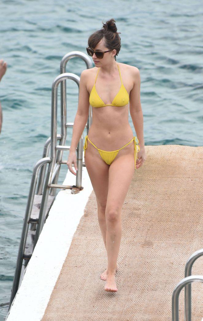 Dakota Johnson 2016 : Dakota Johnson in Yellow Bikini 2016 -35