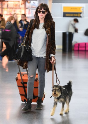 Dakota Johnson - JFK Airport in NYC