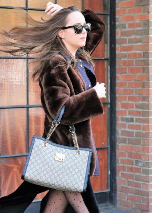 Dakota Johnson - Leave her hotel in New York