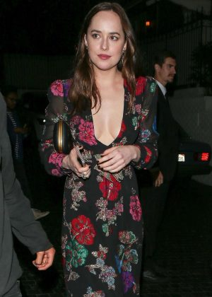 Dakota Johnson Leaves Chateau Marmont in West Hollywood