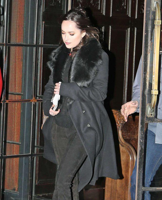 Dakota Johnson – Leaves her hotel in New York City