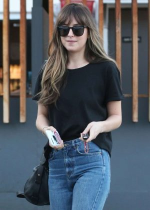 Dakota Johnson - Leaves Meche Hair Salon in Beverly Hills