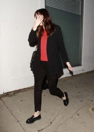 Dakota Johnson - Leaving a restaurant in Los Angeles