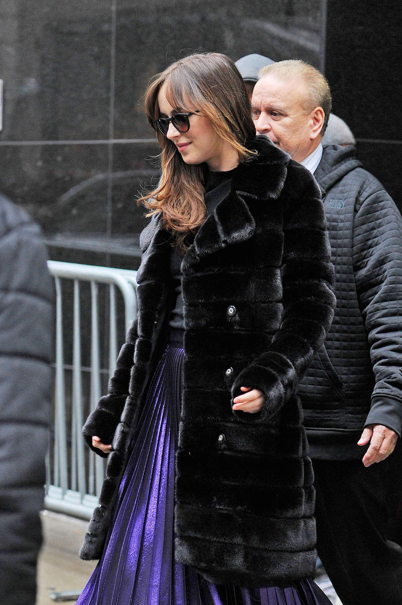 Dakota Johnson - Leaving ABC Studios after Good Morning America in NY