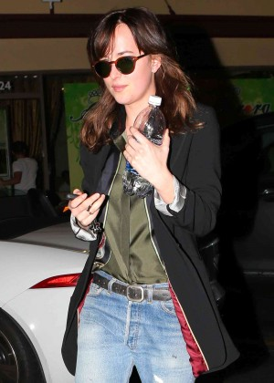 Dakota Johnson - Leaving Aurora Foot Spa in Beverly Hills