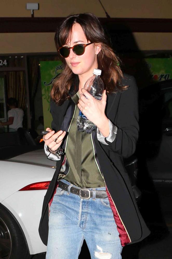 Dakota Johnson – Leaving Aurora Foot Spa in Beverly Hills