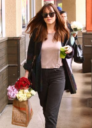 Dakota Johnson - Leaving Erewhon grocery store in Los Angeles