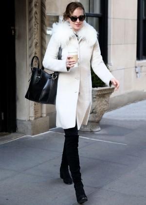 Dakota Johnson - Leaving her apartment in New York City