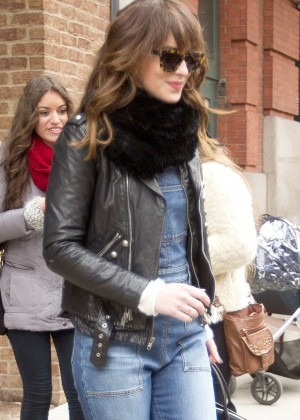 Dakota Johnson in Jeans Leaving her hotel in NYC