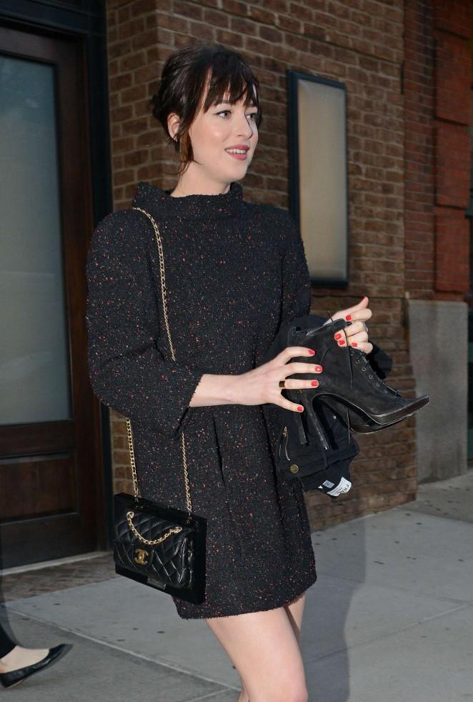 Dakota Johnson – Leaving her hotel in NYC