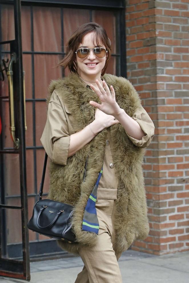 Dakota Johnson - Leaving the Bowery Hotel in New York City