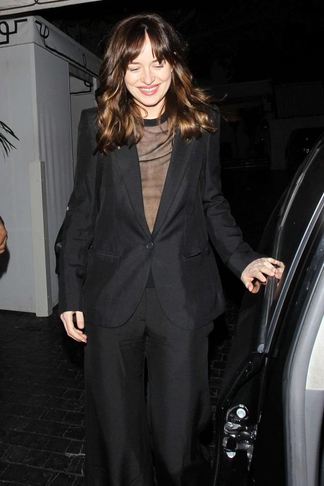Dakota Johnson - Leaving the Chateau Marmont in Hollywood