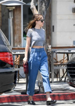 Dakota Johnson - Leaving Thibiant in Beverly Hills